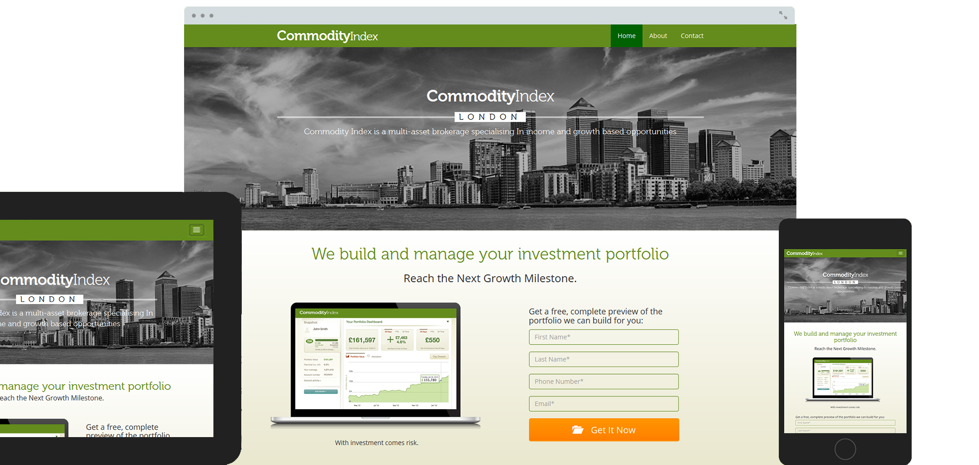 Commodity Index Website