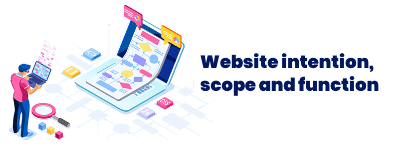 Website intention, scope and function