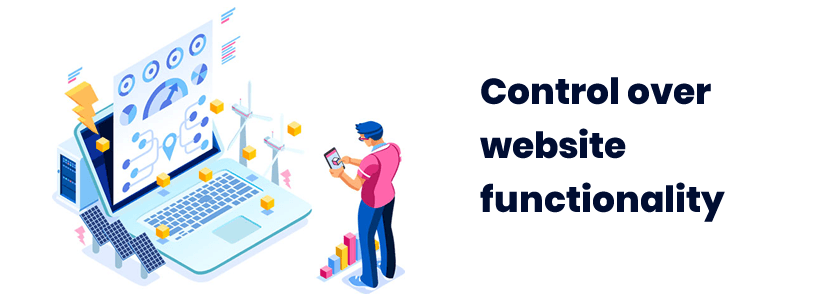 Control over website functionality